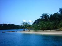 Seclude beach in Jamaica